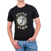 NOTW, Stand Firm, Men's Short Sleeve T-shirt, Black Heather, Medium