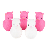 Llama Party Favors Floating Llamas, Pink and White, 2 x 1.50 x 3 Inches, 5 Count