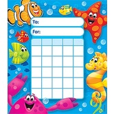 TREND enterprises Inc., Sea Buddies Incentive Pad, 5.25 x 6 Inches, Multi-Colored, 36 Sheets