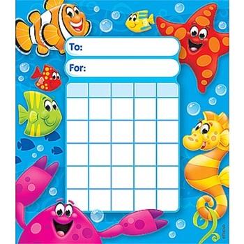 TREND enterprises Inc., Sea Buddies Incentive Pad, 5.25 x 6 Inches, Multi-Colored, 36 Sheets