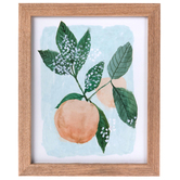 Peach Wall Decor, Wood, Assorted Colors, 11 1/8 x 9 1/8 x 5/8 inches