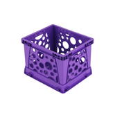 Storex, Micro Crate, Purple, 5.80 x 6.75 x 4.80 Inches, 1 Piece