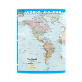 BarCharts, World and U.S. Map Laminated Quick Study Guide, 8.5 x 11 Inches, 6 Pages, Grade 5 and up