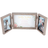 Dicksons, Golden Wedding Anniversary Fold Out Photo Frame, Holds 2 Photos 4 x 6 inches, MDF