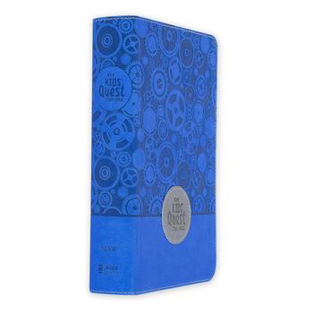 NIrV Kids Quest Study Bible, Duo-Tone, Blue