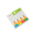 Renewing Minds, Colorful Pencils Labels, Self-Adhesive Labels, 3.5 x 2.5 Inches, Pack of 36