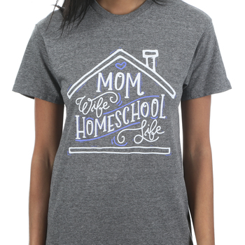 Rooted Soul, Mom Wife Homeschool Life, Women's Short Sleeve T-Shirt, Graphite Heather, S-2XL