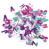 Playside Creations, Alphabet Foam Letters, Pastel Colors, 1 x 3/4 Inches, 150 Count