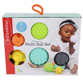 Infantino, Textured Multi-Ball Set, 1 Each of 6 Designs, Ages 6 Months & Older