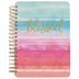 The Paper Studio, Watercolor Blessed Spiral Journal, Cardboard, Pink and Blue, 120 Pages