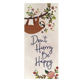 P. Graham Dunn, Don't Hurry Be Happy Word Block, Pine Wood, 3 1/2 x 1 5/8 inches
