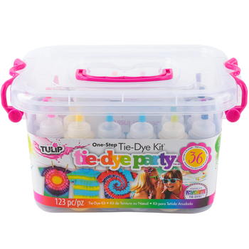 Tulip, Tie-Dye Party Kit, 123 Pieces, 14 Colors, For 6 People, Grades 2 and up