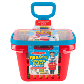 Melissa & Doug, Let's Play House! Grocery Basket with Play Food, 9 Pieces, Ages 3 to 5 Years Old