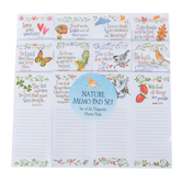 Product Concepts, Seasonal Magnetic Notepad Set, White, Set of 12