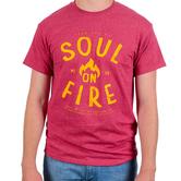 Red Letter 9, Matthew 5:6 Soul On Fire, Men's Short Sleeve T-Shirt, Red Heather, S-3XL
