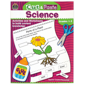 Teacher Created Resources, Cut and Paste Science Workbook, Reproducible, 96 Pages, Grades 1-3