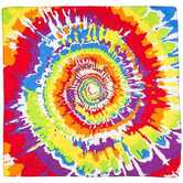 Fashion Bandana, Tie Dye Print, Cotton, 22 x 22 Inches, 1 Piece