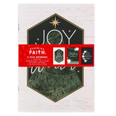 Renewing Faith, Farmhouse Chic Christmas Notebooks, 5 1/2 x 8 1/4 inches, 1 Each of 3 Designs