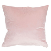 Pink Velvet Square Pillow, Polyester and Cotton, 20 x 20 x 6 1/2 inches