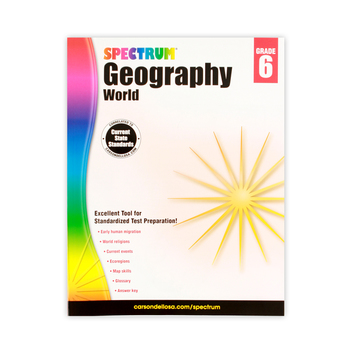 Spectrum, Geography World Workbook, Paperback, 128 Pages, Grade 6