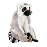 Wild Republic, Cuddlekins Ring Tailed Lemur Stuffed Animal, Gray, 12 inches