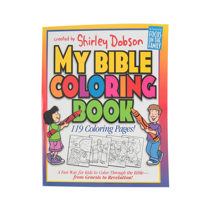Focus On The Family, My Bible Coloring Book, Paperback, 120 Pages, Ages 4-7  Mardel 9780830720682