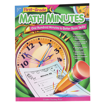 Creative Teaching Press, Math Minutes Workbook, Reproducible Paperback, 112 Pages, Grade 1