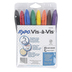 Expo, Vis-A-Vis Wet Erase Markers, Fine Point, Assorted Colors, 8-Pack