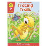 School Zone, Little Hand Helper Workbook: Tracing Trails Preschool, Paperback, 32 pages, Ages 3-5