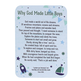 Universal Designs, Why God Made Little Boys Pocket Card, Blue, 2 1/2 x 3 1/2 inches