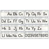 Schoolgirl Style, Simply Boho Alphabet Line Manuscript Mini Bulletin Board Set, 8 Pieces, Grades PK-5