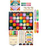 Color Me Brilliant Collection, Customizable Calendar Bulletin Board Set, 115 Pieces