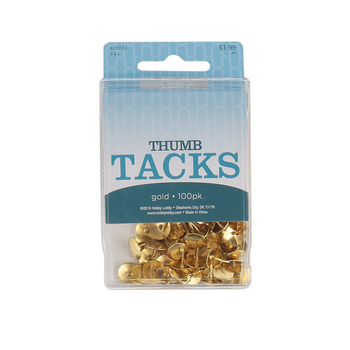 On Schedule, Metal Thumb Tacks, Multiple Colors Available, Set of 100