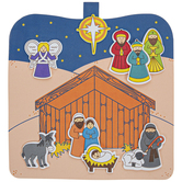 Brother Sister Design Studio, Christmas Crafts, Nativity Scene Foam Craft Kit, 20 Pieces, Makes 2