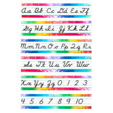 Retro Chic Collection, Cursive Writing Bulletin Board Set, 12 Pieces