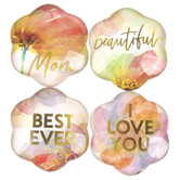 Heartfelt, Best Mom Ever Flower Magnets Magnanimous Gift Set,  1 1/2 inches Each, 1 Each of 4 Designs