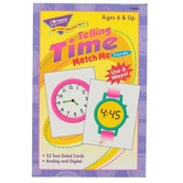 TREND enterprises, Inc., Telling Time Match Me Cards, 52 Cards, 3 x 4 inches, Ages 6+