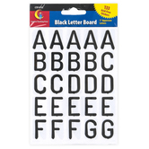 Creative Teaching Press, Black Letter Board Letter Stickers, Uppercase, 1 Inch, 133 Stickers