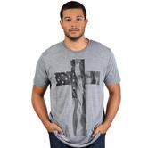 NOTW, Cross Flag, Men's Short Sleeve T-shirt, Heather Gray