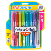 Paper Mate, InkJoy Gel Capped Pens, Medium Point, Multi-Colored, Pack of 8