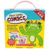 Scholastic, First Little Comics Parent Pack: Levels A & B, 4.25 x 5.50 Inches, 20 Books, Grades PreK-2