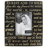 Green Tree Gallery, Wedding Vow Photo Frame, for 5 x 7 Photo
