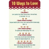 10 Ways To Love Pocket Card