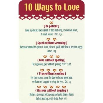 10 Ways To Love Pocket Card