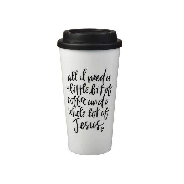 Coffee and Jesus 10 oz Tumbler Travel Tumbler Coffee Mug Travel Coffee Mug