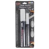 Uchida, Bistro Chalk Marker Set, White, Chisel & Fine Tip