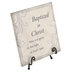 Carson Home Accents, Baptized In Christ Tabletop Plaque with Easel, Ceramic, Gray, 6 x 6 inches
