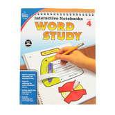 Carson-Dellosa, Interactive Notebooks Word Study Resource Book, Reproducible Paperback, Grade 4