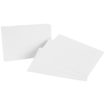 Blank White Index Cards 4x6