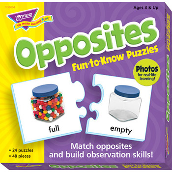 Opposites Fun To Know Puzzle